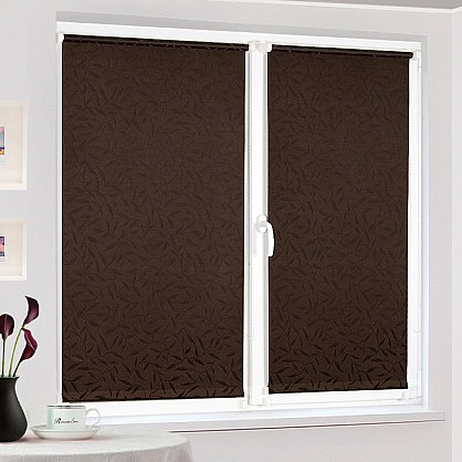 "Рулонная штора ""Сантайм-жаккард Оливия Шоколад"", ширина 68 см (8261-72(68)), фото 2"