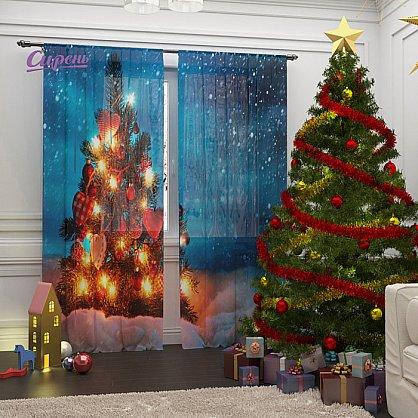 """Фототюль """"Рождественские огни"""" (s-100437), фото 1"""