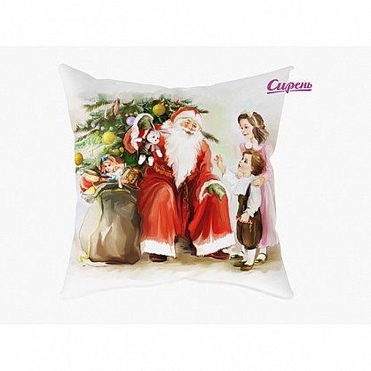 """Декоративная подушка """"Дед мороз и дети"""" (s-100384), фото 1"""