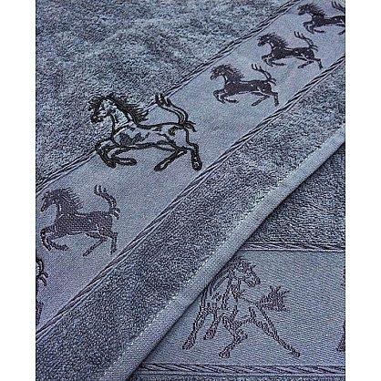 "Набор полотенец ""Мустанг"", серый, 2 шт. (F-mustang-ser), фото 2"