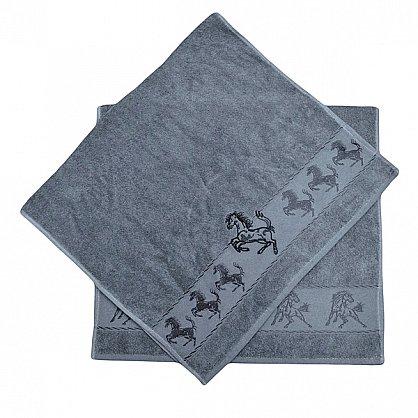 "Набор полотенец ""Мустанг"", серый, 2 шт. (F-mustang-ser), фото 3"