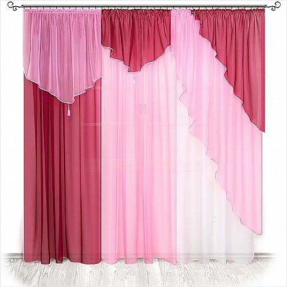 бордо-розовый-белый