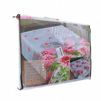 Покрывало Шарм №5003, коричневый, розовый, 180*220 см-A (mn-5003-180-A), фото 2