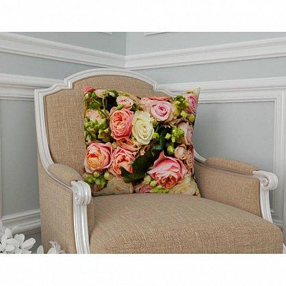 "Декоративная подушка блэкаут ""Букет французских роз"" (s-100485), фото 2"