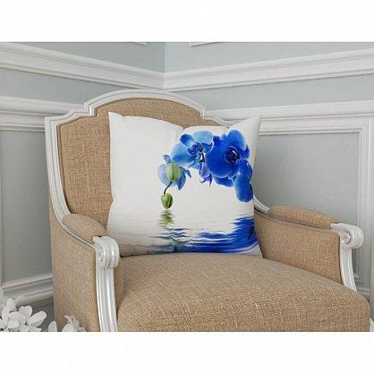 "Декоративная подушка габардин ""Синяя орхидея"" (s-101417), фото 2"
