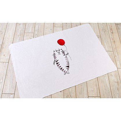 "Фотоплед двухсторонний ""Котик с шариком"", 90*140 см (s-102507), фото 1"