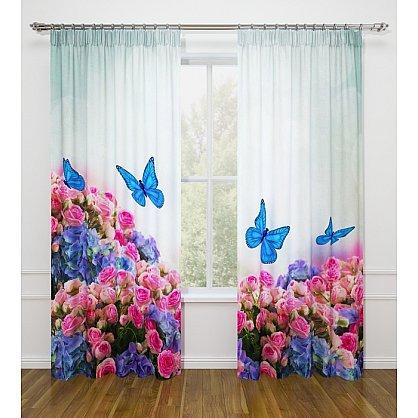 """Фотошторы Стильный дом """"Бабочки в цветах"""" (s-102192), фото 1"""