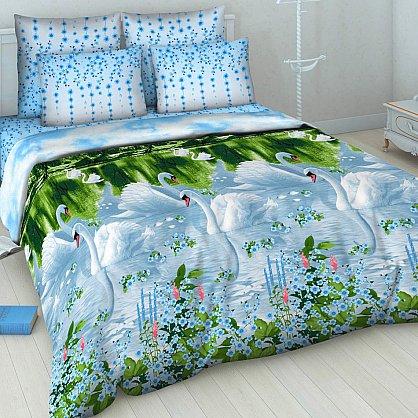 """Комплект постельного белья """"Белые лебеди"""" 5411 (v-100394-gr), фото 1"""