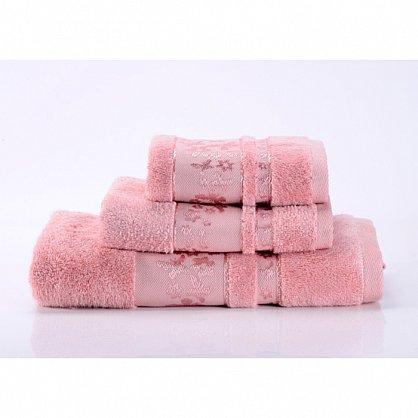 "Полотенце банное ""Emily"", розовый, 40*70 см (vl-100101), фото 1"