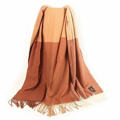 Плед INCALPACA Пима, бежевый, персиковый, коричневый, 170*210 см (vl-100182), фото 3