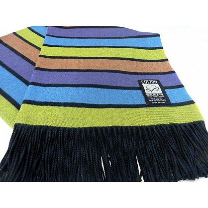 Плед INCALPACA Пима, голубой, салатовый, фиолетовый (vl-200065-gr), фото 1