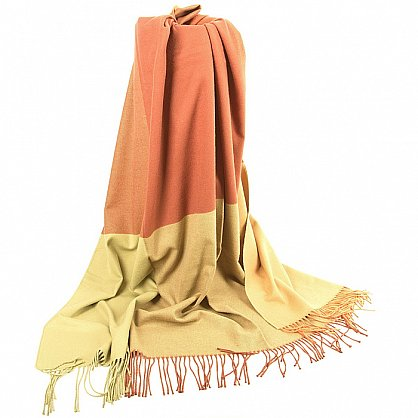 Плед INCALPACA Пима, оранжевый, желтый, 150*200 см (vl-100175), фото 3