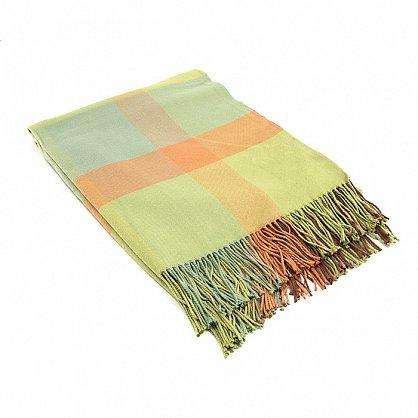 Плед INCALPACA Пима, зеленый, оранжевый, 170*210 см (vl-100172), фото 1
