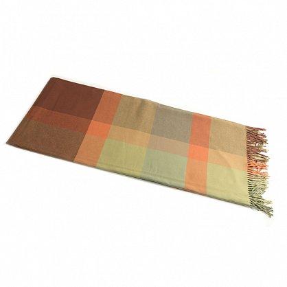 Плед INCALPACA Пима, зеленый, оранжевый, 170*210 см (vl-100172), фото 2