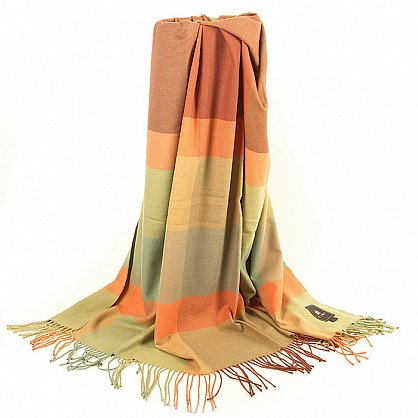 Плед INCALPACA Пима, зеленый, оранжевый, 170*210 см (vl-100172), фото 3