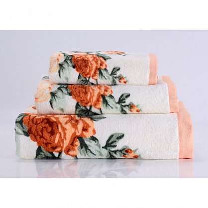 "Полотенце банное ""Rosy"", оранжевый, 50*90 см (vl-100096), фото 1"
