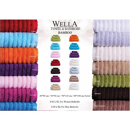Полотенце махровое Wella Коричневое 50*90 см (W-Camel-50), фото 2