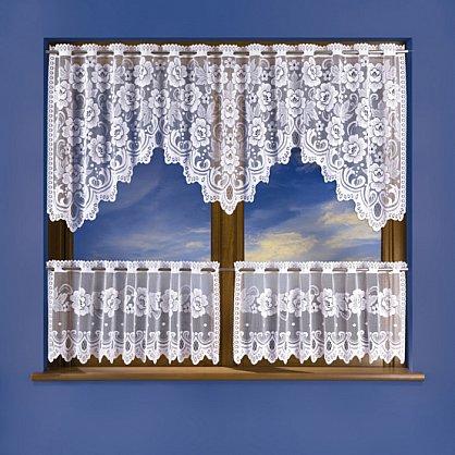 Комплект штор для кухни №3325, белый (zk-3325), фото 1