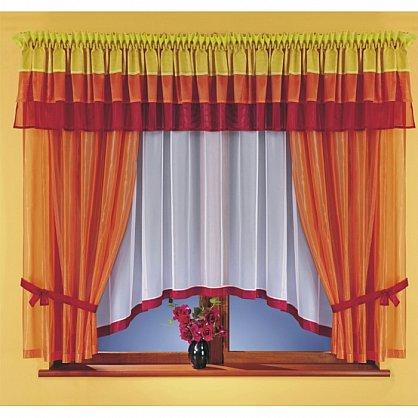 Комплект штор для кухни №5761, оранжевый, красный (zk-5761), фото 1