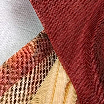 """Комплект штор """"Хризантемы"""", терракотовый, желтый (zk-6454-gr), фото 2"""