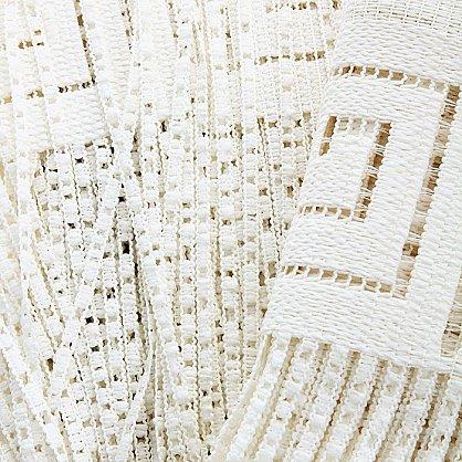 Кисея нитяная штора на кулиске однотонная №030A-01, белый (zk-030A-01), фото 2