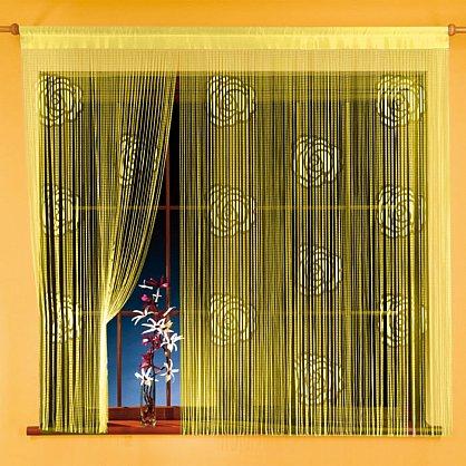 Кисея нитяная штора на кулиске однотонная №035A-01, желтый (zk-035A-01), фото 1