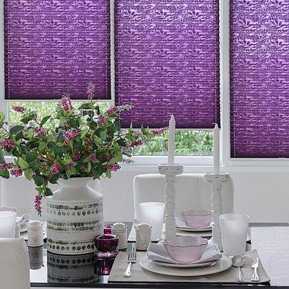 """Штора плиссе """"Фиолетовый"""", ширина 57 см (334-57), фото 1"""