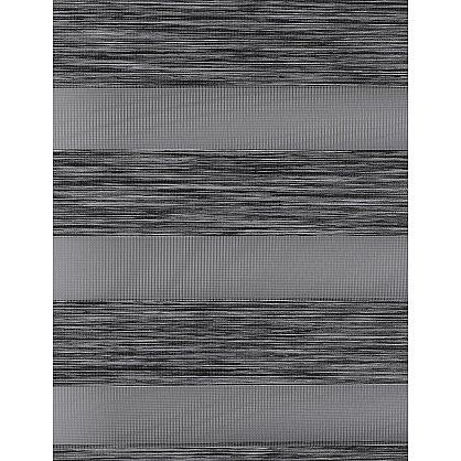 """Рулонная штора """"День-Ночь Сантайм Натур Графит"""" (4306-gr), фото 9"""