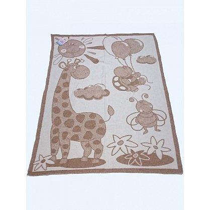 """Одеяло детское """"Жираф"""", белый, бежевый, 100*140 см (od-jr-bb-100), фото 1"""