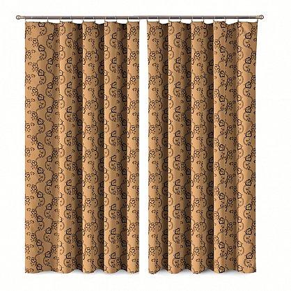 Комплект штор Primavera №1110080, коричневый (zk-100068), фото 1