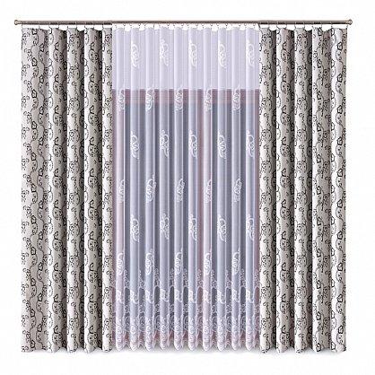 Комплект штор Primavera №1110082, серый, белый (zk-100069), фото 1