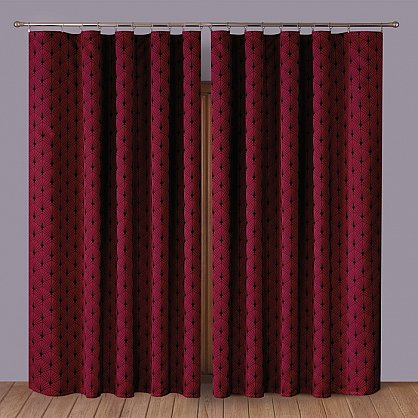 Комплект штор Primavera №2, бордовый (zk-200008-gr), фото 1