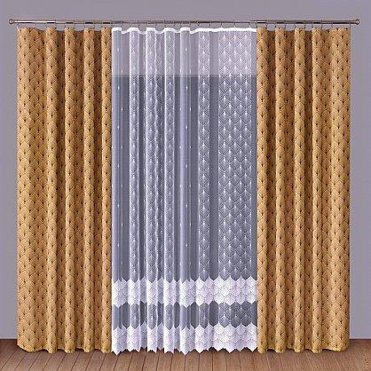 Комплект штор Primavera №1110088, коричневый, белый (zk-100075), фото 1