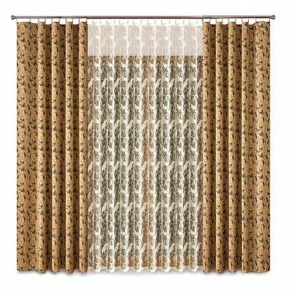 Комплект штор Primavera №1110093, коричневый (zk-100080), фото 1