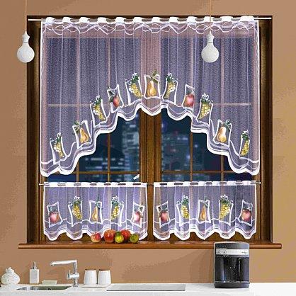 Комплект штор для кухни №3340, белый (zk-3340), фото 1