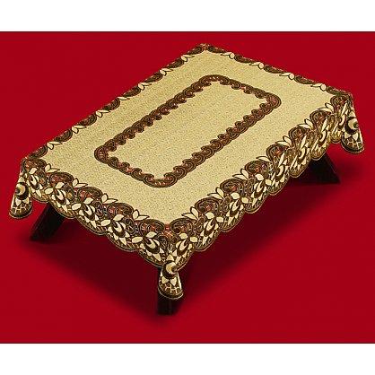 Скатерть Haft №38780/100, оливково-коричневый, 100*150 см (zk-102241), фото 1