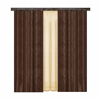 Комплект штор №777048, коричневый, кремовый (zk-100100), фото 1
