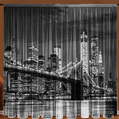 """Фототюль """"Бруклинский мост"""" (zk-102624), фото 1"""