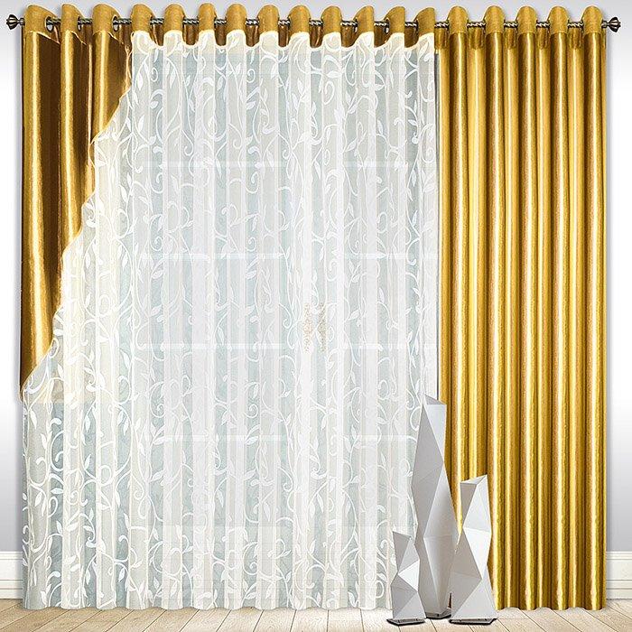 шторы из вуали на люверсах фото снятой