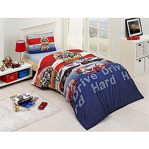"""Комплект постельного белья подростковый """"RANFORCE DRIVE"""" 50х70*1 (1.5 спальный)"""