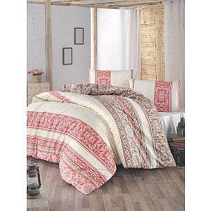 """Комплект постельного белья """"RANFORCE MONICA"""" (2 спальный), брусничный"""