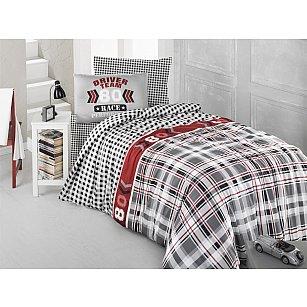 """Комплект постельного белья подростковый """"RANFORCE DRIVER TEAM"""" 50х70*1 (1.5 спальный), серый"""
