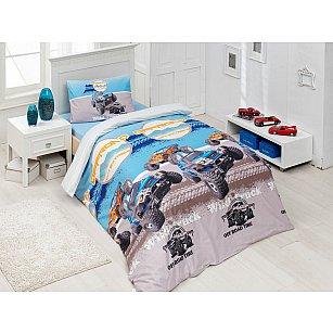 """Комплект постельного белья подростковый """"RANFORCE WILD TRUCK"""" 50х70*1 (1.5 спальный)"""