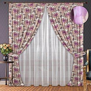 Комплект штор №002 Сиреневый