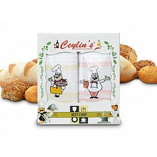 Комплект вафельных салфеток Ceylin's Coffee дизайн 05, 50*70 см - 4 шт