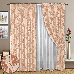 Комплект штор №008 Нежно-оранжевый
