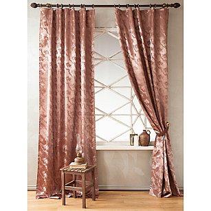 Комплект штор КОРСА-A, коричневый, 250 см