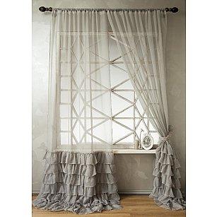 Комплект штор НОА, серый-A, 250 см