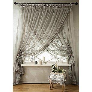 Комплект штор ВИНТАЖ, серый, 250 см-A