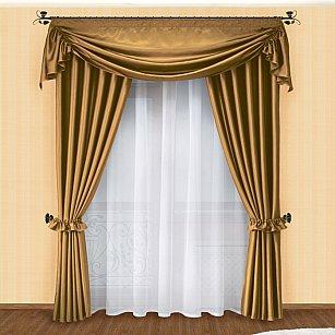 Комплект штор №016 Темное золото